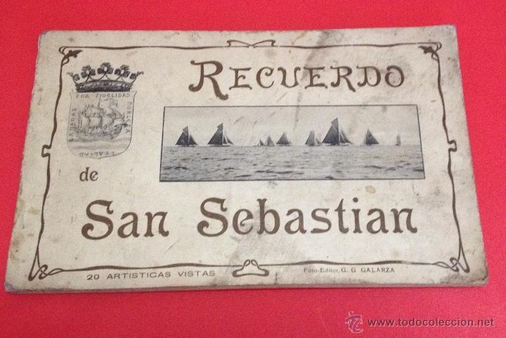 RECUERDO DE SAN SEBASTIAN 20 ARTISTICAS VISTAS G.G. GALARZA (Postales - España - País Vasco Moderna (desde 1940))