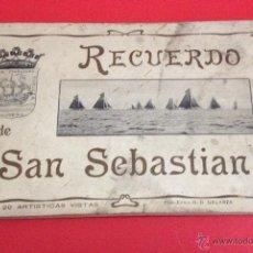 Postales: RECUERDO DE SAN SEBASTIAN 20 ARTISTICAS VISTAS G.G. GALARZA. Lote 41304266