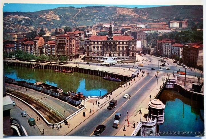 VIZCAYA. BILBAO. AYUNTAMIENTO Y PUENTE DEL GENERAL MOLA. (Postales - España - País Vasco Moderna (desde 1940))