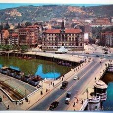 Postales: VIZCAYA. BILBAO. AYUNTAMIENTO Y PUENTE DEL GENERAL MOLA.. Lote 41339549