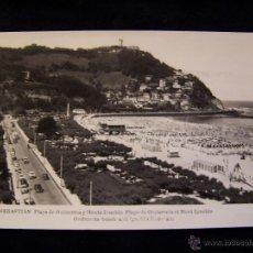 Postales: POSTAL FOTOGRÁFICA CIRCULADA 1950 APROX ED MANIPEL PLAYA DE ONDARRETA SAN SEBASTIÁN . Lote 41442992