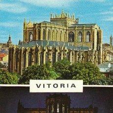 Postales: VITORIA, NUEVA CATEDRAL EN CONSTRUCCION, EDITOR: GARRIDO . Lote 41509609