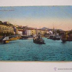 Postales: POSTAL VIZCAYA. BILBAO. PUENTE GIRATORIO. CIRCULADA 1922.. Lote 41530061