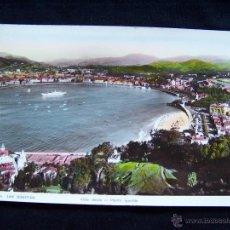 Postales: A FOTOGRÁFICA COLOREADA CIRCULADA 1947 SAN SEBASTIÁN FOTO GALARZ SERIE VISTA DESDE EL MONTE IGUELDO. Lote 41714686
