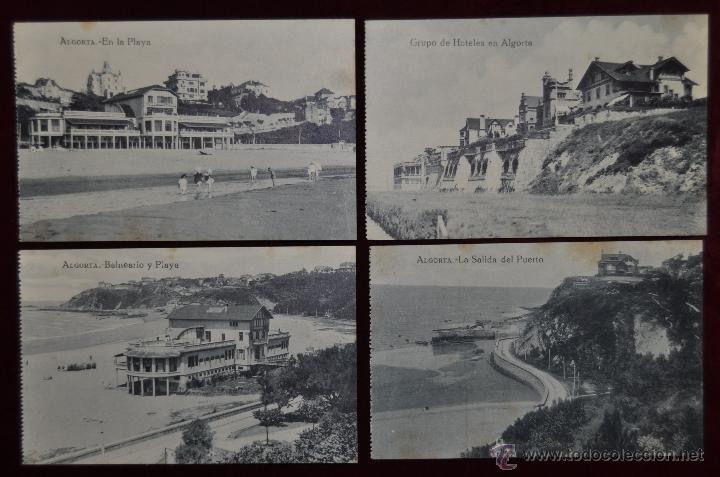 LOTE DE 4 POSTALES ANTIGUAS DE ALGORTA (GETXO). PAIS VASCO. DIFERENTES VISTAS (Postales - España - Pais Vasco Antigua (hasta 1939))