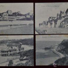 Postales: LOTE DE 4 POSTALES ANTIGUAS DE ALGORTA (GETXO). PAIS VASCO. DIFERENTES VISTAS. Lote 41873259