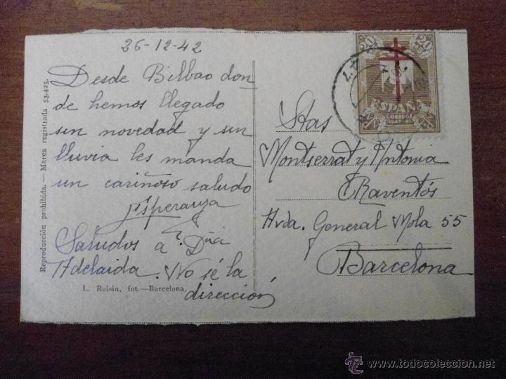 Postales: POSTAL ANTIGUA. BILBAO. DIPUTACIÓN. ESCRITA Y CIRCULADA 1942 - Foto 2 - 42067372