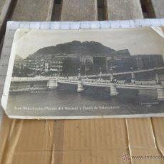 Postales: POSTAL DE SAN SEBASTIAN PUENTE DEL KURSAL Y PASEO DE SALAMANCA. Lote 42205038