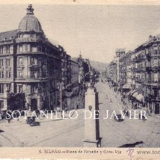 Postales: VIZCAYA - BILBAO - PLAZA DE ESPAÑA Y GRAN VIA. Lote 42635619