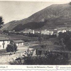 Postales: PS4302 CESTONA 'ESTACIÓN DEL BALNEARIO Y PUENTE'. ED. ARRIBAS. CIRCULADA EN 1950. Lote 42736162