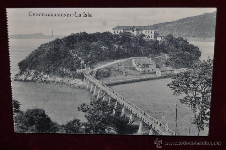 ANTIGUA POSTAL DE VIZCAYA. LA ISLA DE CHACHARRAMENDI. SIN CIRCULAR (Postales - España - Pais Vasco Antigua (hasta 1939))