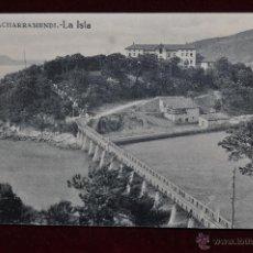 Postales: ANTIGUA POSTAL DE VIZCAYA. LA ISLA DE CHACHARRAMENDI. SIN CIRCULAR. Lote 42926456