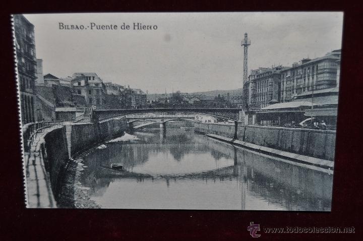 ANTIGUA POSTAL DE BILBAO. PUENTE DE HIERRO. SIN CIRCULAR (Postales - España - Pais Vasco Antigua (hasta 1939))