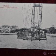 Postales: ANTIGUA POSTAL DE BILBAO. TRASBORDADOR DEL PUENTE VIZCAYA. CIRCULADA. Lote 43006796