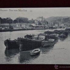 Postales: ANTIGUA POSTAL DE BILBAO. NUEVOS MUELLES. SIN CIRCULAR. Lote 43047831