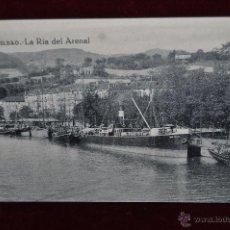 Postales: ANTIGUA POSTAL DE BILBAO. LA RIA DEL ARENAL. SIN CIRCULAR. Lote 43047836