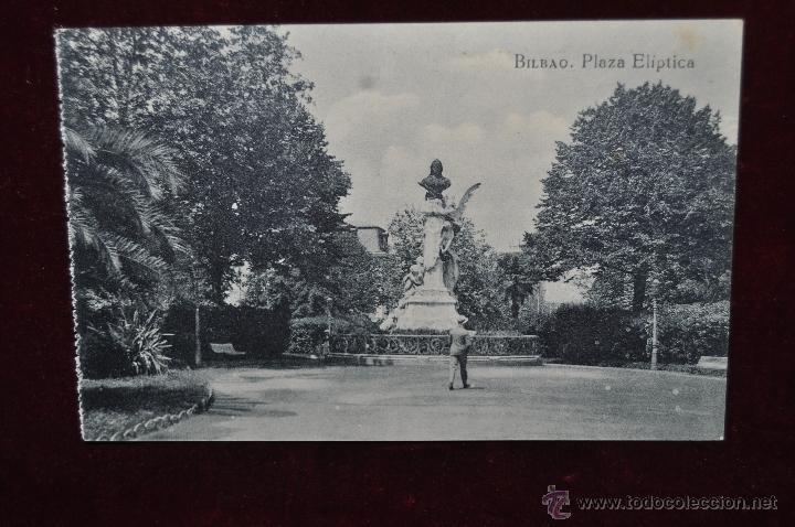 ANTIGUA POSTAL DE BILBAO. PLAZA ELIPTICA. SIN CIRCULAR (Postales - España - Pais Vasco Antigua (hasta 1939))