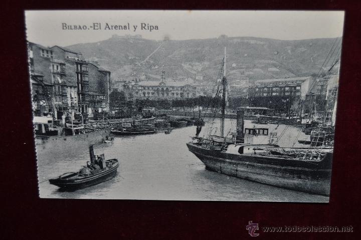 ANTIGUA POSTAL DE BILBAO. EL ARENAL Y RIPA. SIN CIRCULAR (Postales - España - Pais Vasco Antigua (hasta 1939))