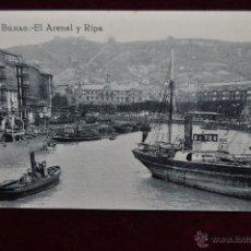 Postales: ANTIGUA POSTAL DE BILBAO. EL ARENAL Y RIPA. SIN CIRCULAR. Lote 43047857