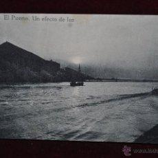Postales: ANTIGUA POSTAL DE BILBAO. EL PUERTO. UN EFECTO DE LUZ. SIN CIRCULAR. Lote 43047926