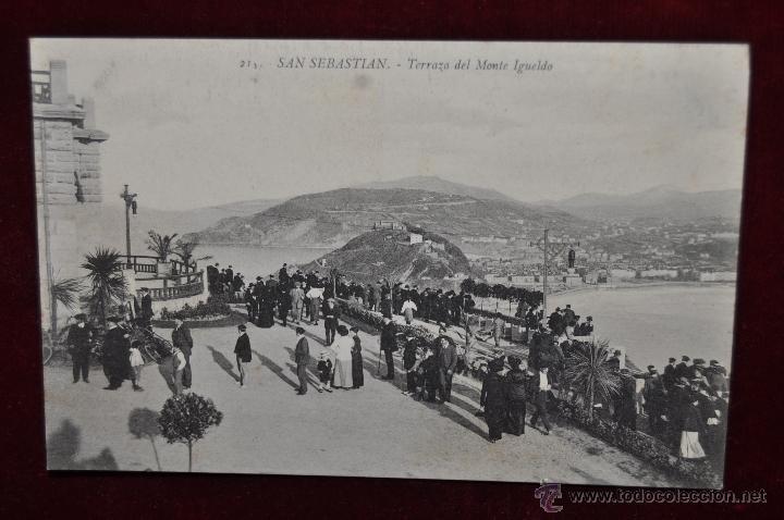 ANTIGUA POSTAL DE SAN SEBASTIAN. TERRAZA DEL MONTE IGUELDO. SIN CIRCULAR (Postales - España - Pais Vasco Antigua (hasta 1939))