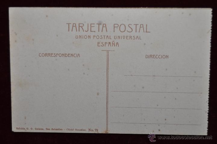 Postales: ANTIGUA POSTAL DE SAN SEBASTIAN. SUBIDA A LA PLAZA DE TOROS. SIN CIRCULAR - Foto 2 - 43235497