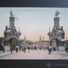Postales: POSTAL SAN SEBASTIÁN. PUENTE DE MARIA CRISTINA. . Lote 43436542