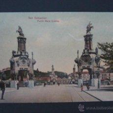 Postales: POSTAL SAN SEBASTIÁN. PUENTE MARIA CRISTINA. . Lote 43458673