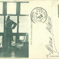 Postales: SAN SEBASTIAN. PAUL DEROULÈDE. CIRCULADA EN 1900 CON UN PELÓN.. Lote 43526276