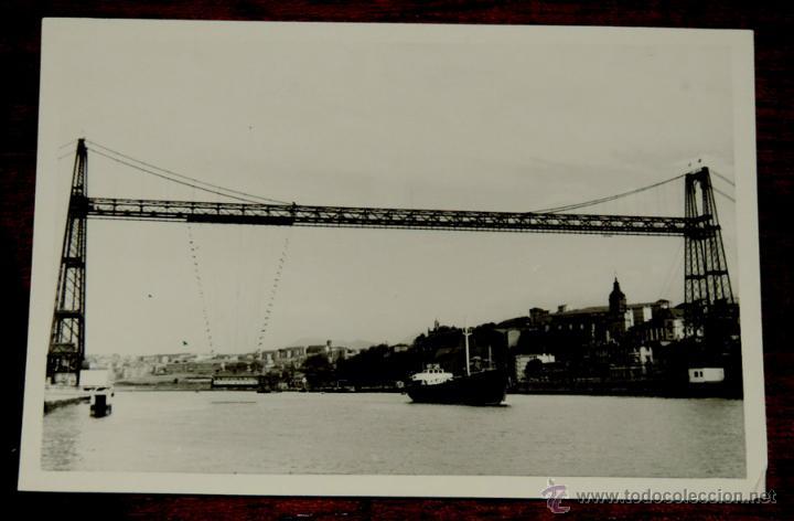 FOTOGRAFIA DE PORTUGALETE (VIZCAYA).- PUENTE COLGANTE - AÑOS 50 - MIDE 10,3 X 7,3 CMS. (Postales - España - Pais Vasco Antigua (hasta 1939))
