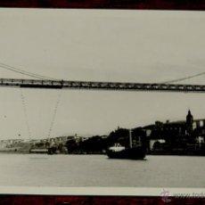 Postales: FOTOGRAFIA DE PORTUGALETE (VIZCAYA).- PUENTE COLGANTE - AÑOS 50 - MIDE 10,3 X 7,3 CMS.. Lote 43533048