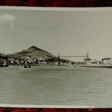 Postales: FOTOGRAFIA DE PORTUGALETE (VIZCAYA).- PUENTE COLGANTE - AÑOS 50 - MIDE 10,3 X 7,3 CMS.. Lote 43533068