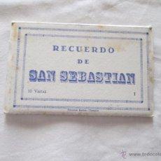 Postales: RECUERDO DE SAN SEBASTIAN (10 POSTALES). Lote 43637077