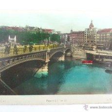 Postales: POSTAL BILBAO - PUENTE DEL ARENAL - L. ROISIN 63 - COLOREADA. Lote 43641236