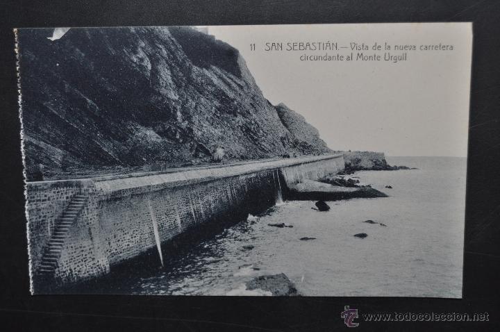 ANTIGUA POSTAL DE SAN SEBASTIAN. VISTA DE LA NUEVA CARRETERA AL MONTE URGULL. SIN CIRCULAR (Postales - España - Pais Vasco Antigua (hasta 1939))