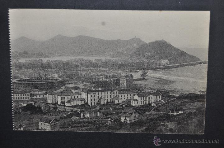 ANTIGUA POSTAL DE SAN SEBASTIAN. VISTA GENERAL TOMADA DESDE EL MONTE ULIA. ED. GRAFOS. SIN CIRCULAR (Postales - España - Pais Vasco Antigua (hasta 1939))
