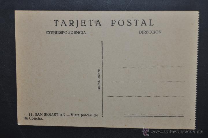 Postales: ANTIGUA POSTAL DE SAN SEBASTIAN. VISTA PARCIAL DE LA CONCHA. ED. GRAFOS. SIN CIRCULAR - Foto 2 - 43727100