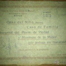 Postales: BLOCK 30 VISTAS CASA DEL NIÑO, BERMEO,SUCURSAL MONTE DE PIEDAD, BARACALDO,L ROISIN FOT, RARISIMA. Lote 43750734