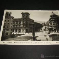 Postales: BILBAO ESTACION DE LA RENFE Y CALLE HURTADO DE AMEZAGA ED. MADYMA. Lote 43771927