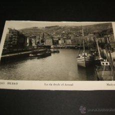 Postales: BILBAO LA RIA DESDE EL ARENAL. Lote 44001006