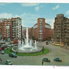 Postales: BILBAO. FUENTE MONUMENTAL DE LA PLAZA ZABÁLBURU. ANIMADA.. Lote 44043085