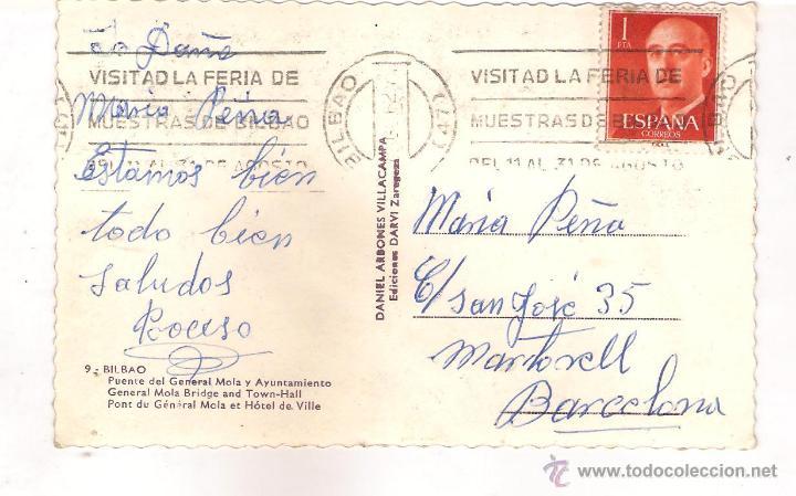 Postales: POSTAL DE BILBAO PUENTE DEL GENERAL MOLA Y AYUNTAMIENTO . - Foto 2 - 44100478