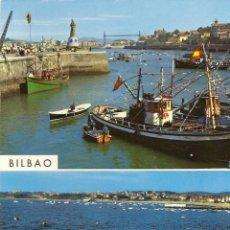 Postales: POSTAL BILBAO, VIZCAYA , SANTURCE Y PLAYA DE LAS ARENAS, SIN CIRCULAR. Lote 44215141
