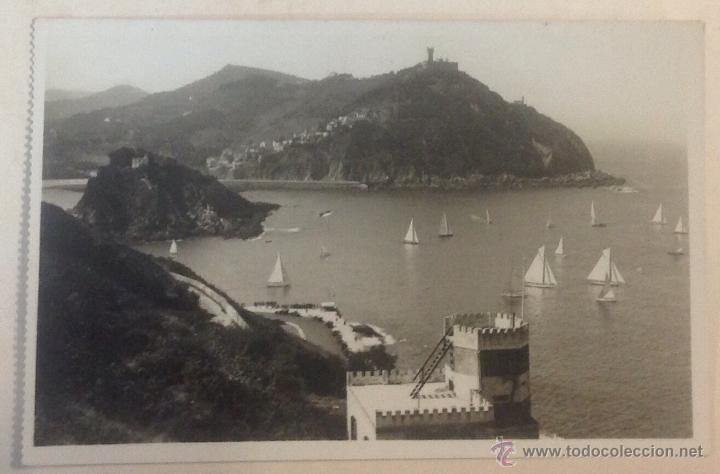 POSTAL SAN SEBASTIAN. VISTA DESDE EL MONTE URGULL. FOTO. GALARZA. (Postales - España - País Vasco Moderna (desde 1940))