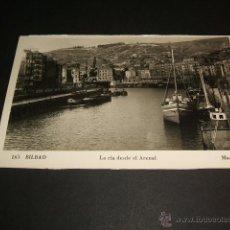 Postales: BILBAO LA RIA DESDE EL ARENAL. Lote 44272139