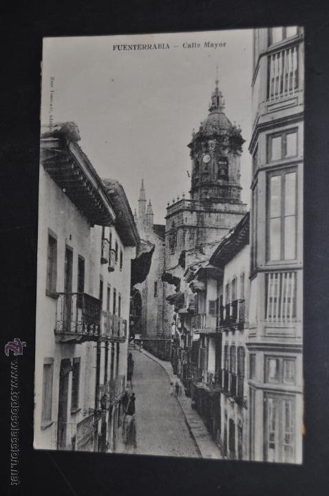 ANTIGUA POSTAL DE FUENTERRABIA. GUIPUZCOA. CALLE MAYOR. CIRCULADA (Postales - España - Pais Vasco Antigua (hasta 1939))