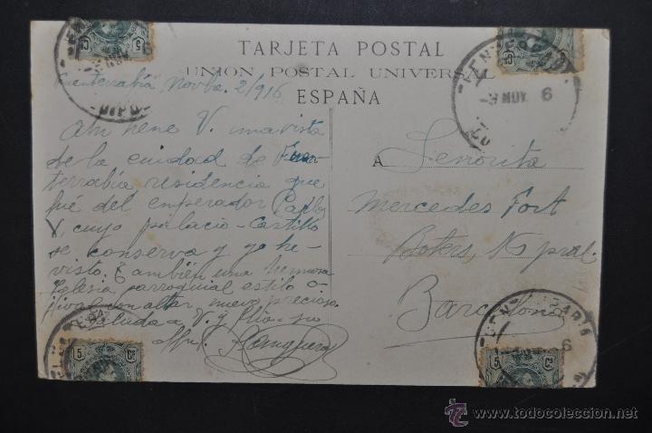 Postales: ANTIGUA POSTAL DE FUENTERRABIA. GUIPUZCOA. CALLE MAYOR. CIRCULADA - Foto 2 - 44893036
