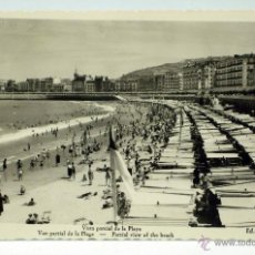 Postales: POSTAL SAN SEBASTIÁN VISTA PARCIAL DE LA PLAYA ED AISA ESCRITA 1955. Lote 45030682