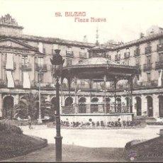 Postales: POSTAL BILBAO -PLAZA NUEVA - EDITA CASTAÑEIRA Y ALVAREZ NUM 59. Lote 45323704