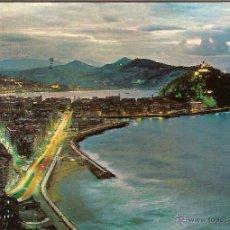 Postales: SAN SEBASTIÁN (GUIPÚZCOA), VISTA NOCTURNA DESDE EL MONTE ULÍA - BEASCOA Nº 74 - CIRCULADA. Lote 45481128